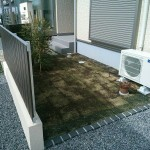 窓の前を芝生にして、緑を楽しんでもらいます(*^_^*
